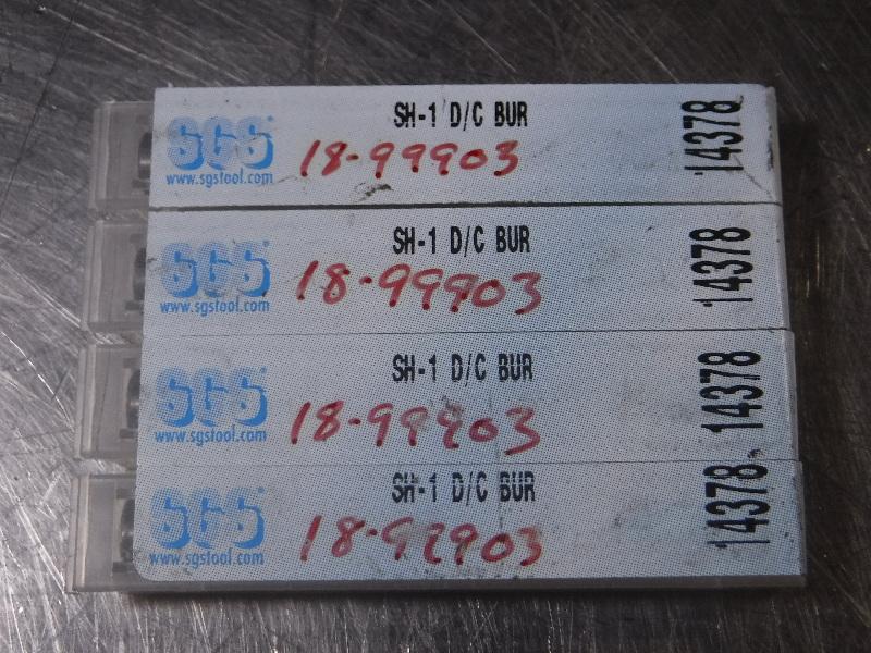 SGtools SH-1 D/C Carbide BUR QTY4 (LOC1070A)