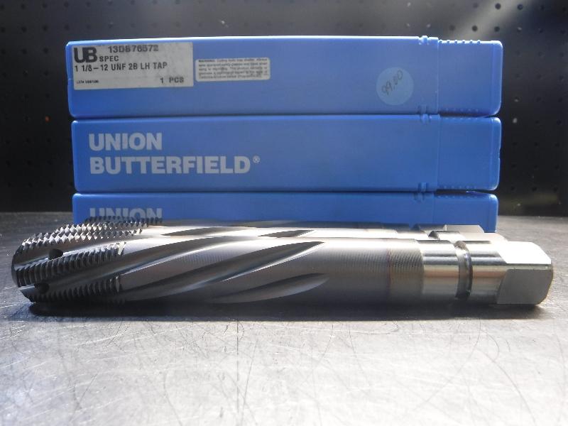 Union Butterfield Tap  QTY3 1 1/8-12 UNF 2B LH TAP (LOC1317)