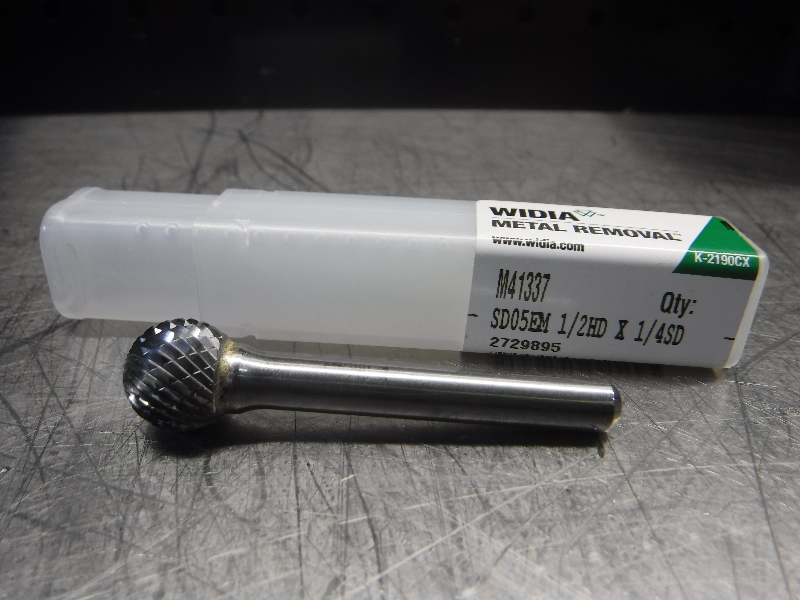 "Widia SD05 Carbide Ball Burr 1/2"" #M41337 (LOC2456)"