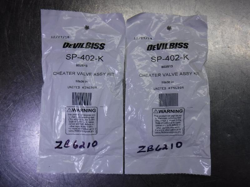 Devilbiss Air Flow Valve Assembly Kit QTY2 SP-402-K (LOC1711)