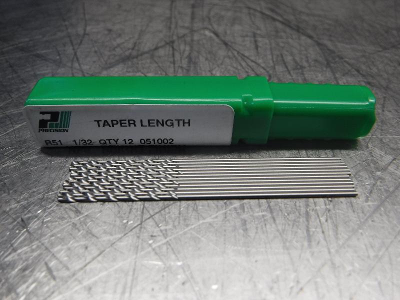 """Precision Twist Drill 1/32"""" Drill Bits QTY12 0510002 (LOC2042A)"""