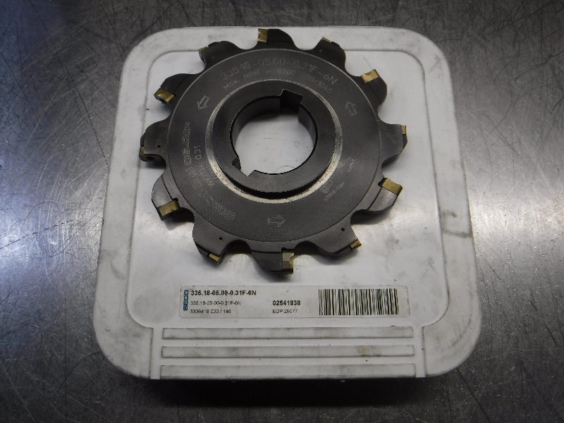 """Seco 4.937"""" Indexable Slot Milling Cutter 335.18-05.500-0.31F-6N (LOC1843C)"""
