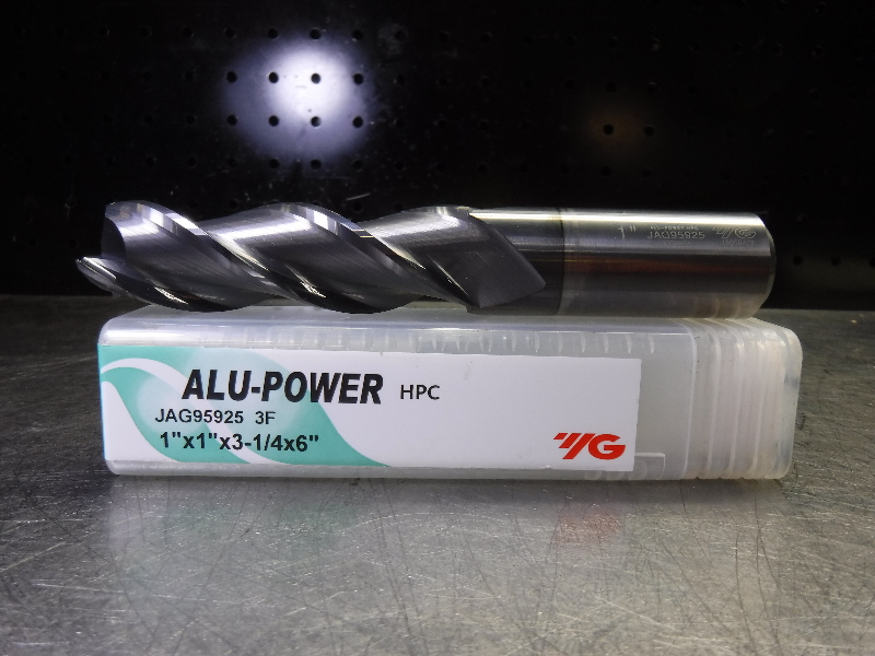 "Y.G-1 TOOL CO. ALU-Power 1"" Solid Carbide Endmill 3 Flute JAG95925 (LOC1843D)"