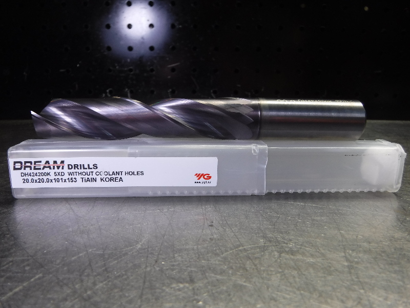 Y.G-1 TOOL CO. 20mm Solid Carbide Drill 2 Flute DH424200K (LOC2145A)