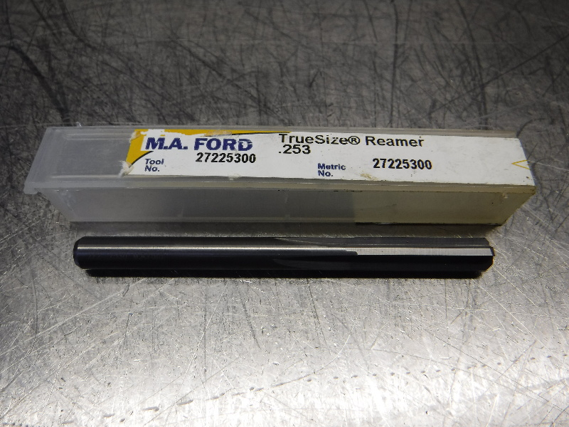 "M.A. Ford 0.253"" Solid Carbide Reamer 0.2380"" Shank 27225300 (LOC1844B)"