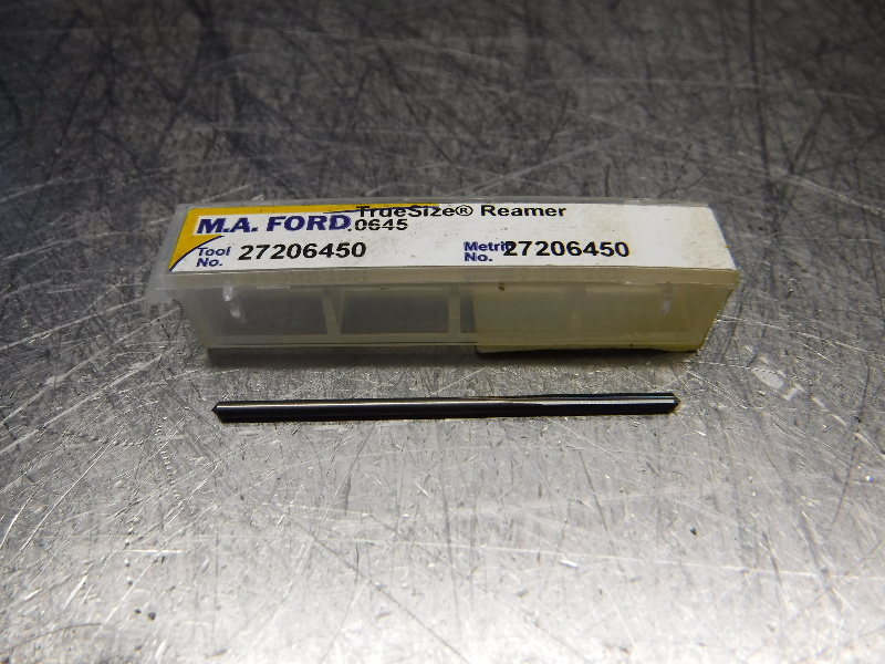 "M.A. Ford .0645"" Solid Carbide Reamer .0580"" Shank 27206450 (LOC1844B)"