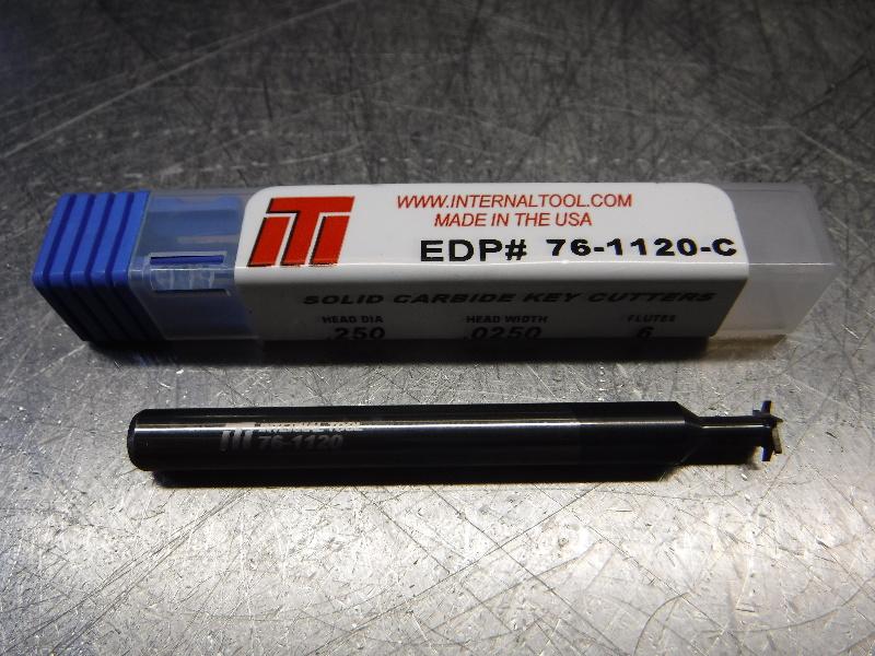 "Internal Tool 1/4"" Solid Carbide Key cutter 1/4"" Shank 76-1120-C (LOC1874B)"