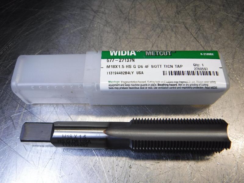 Widia M18X1.5 D6 HSS Bottoming Tap 14mm Shank 677-27137N (LOC534)