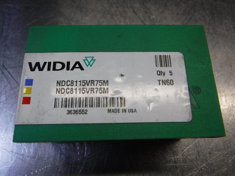 Widia Carbide Inserts QTY5 NDC8115VR75M TN6010 (LOC384)