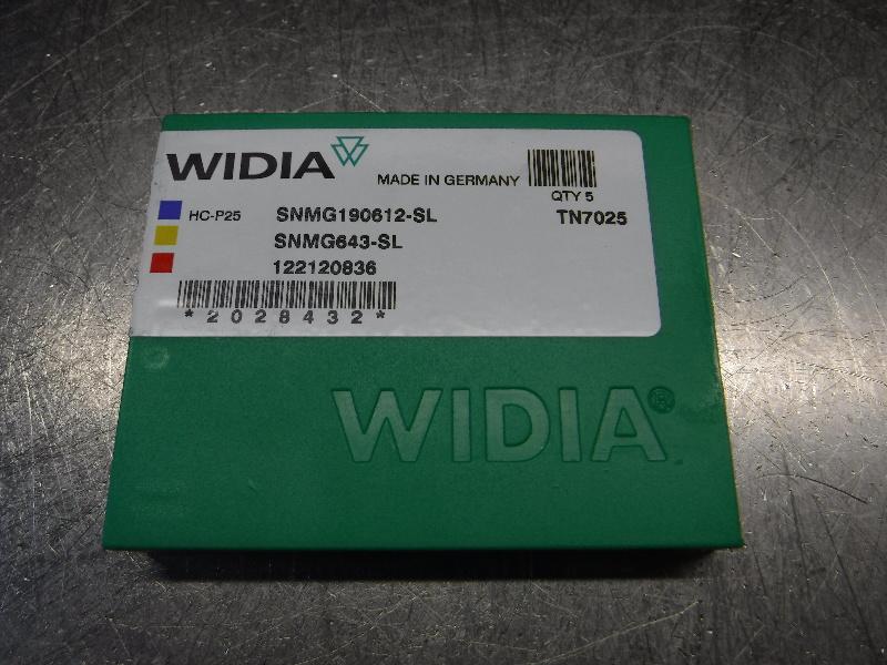 Widia Carbide Inserts QTY5 SNMG190612-SL/SNMG643-SL TN7025 (LOC2578B)