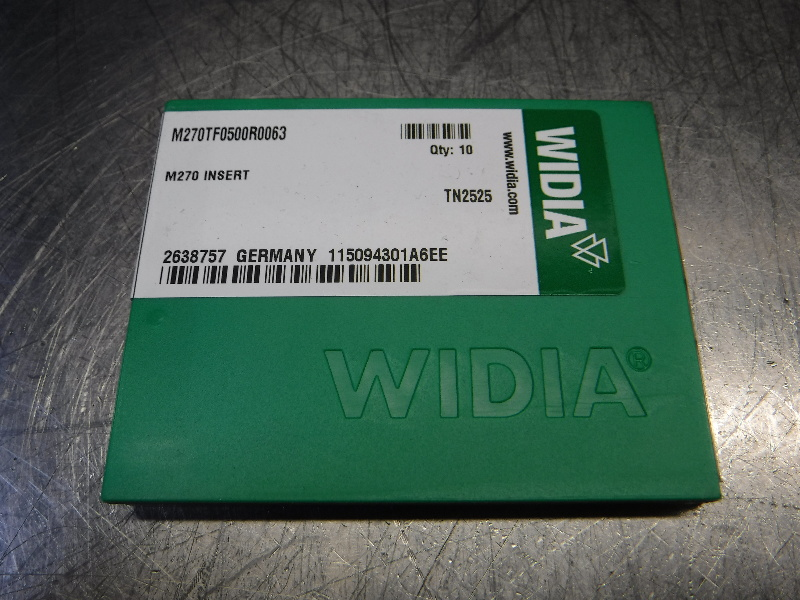 Widia Carbide Inserts QTY10 M270TF0500R0063 TN2525 (LOC2568B)