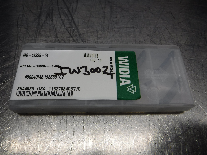 Widia Carbide Grooving Inserts QTY10 MB-19335-51 C2 (LOC2544)