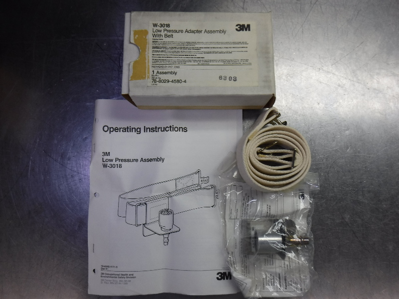 3M W-3018 Low Pressure Flow Adapter Connector Assembly With Belt (LOC1015B)
