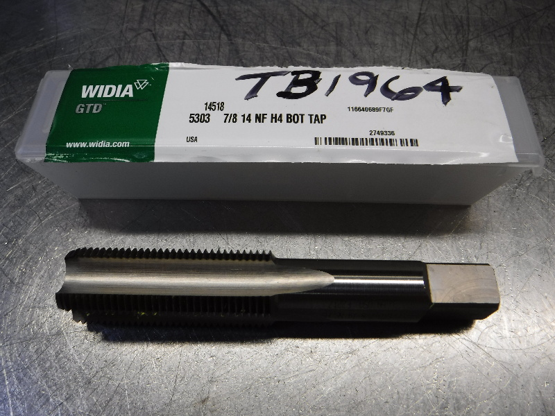 Widia 4 Flute Bottoming Tap 18mm Shank 7/8 14 NF H4 BOT TAP (LOC2532)