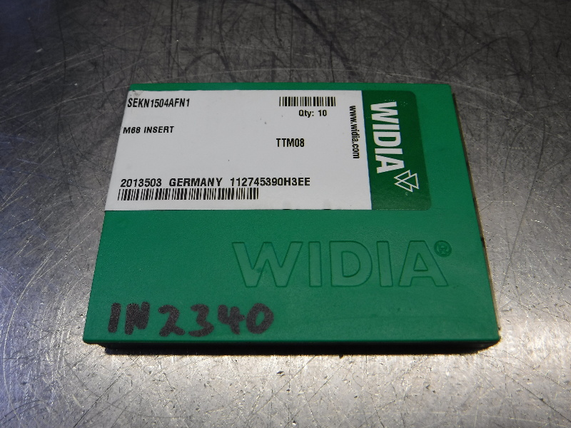 Widia Carbide Inserts QTY10 SEKN1504AFN1 TTM08 (LOC2131A)