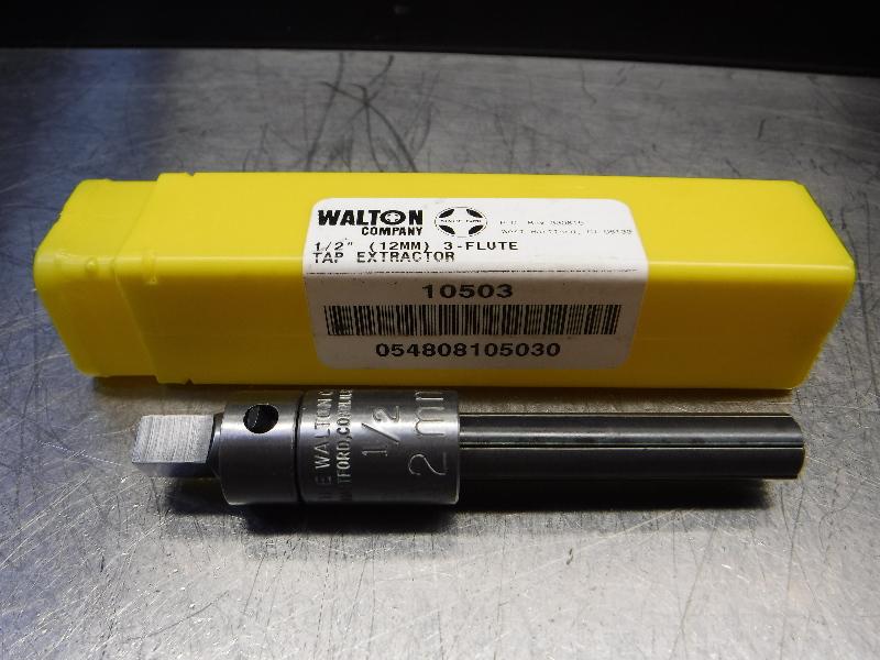 "Walton Company 1/2"" (12mm) 3 Flute Tap Extractor 10503 (LOC1337A)"