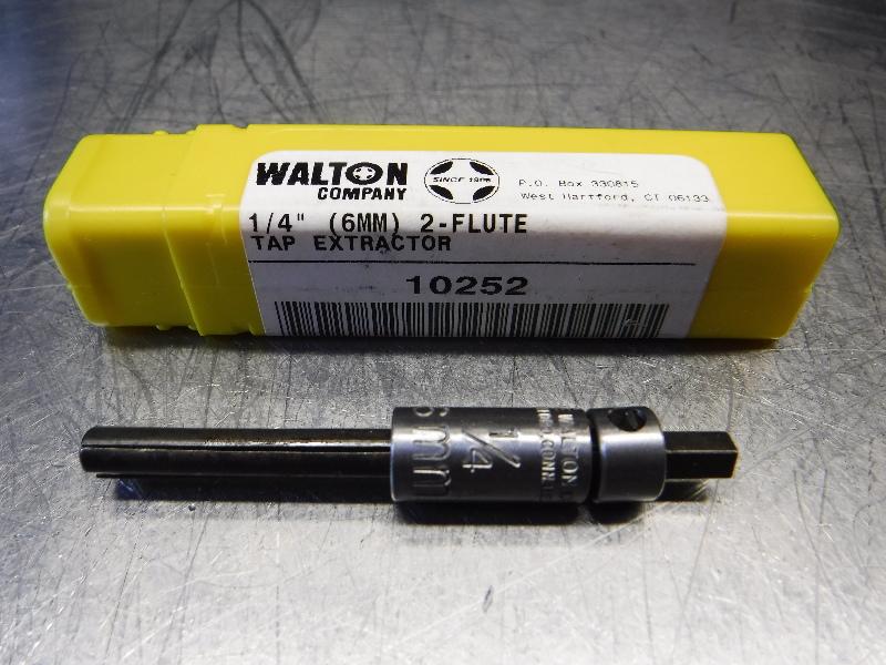 "Walton Company 1/4"" (6MM) 2 Flute Tap Extractor 10252 (LOC343A)"