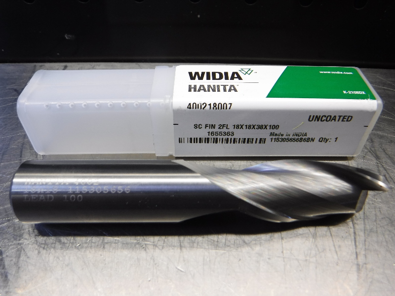 Widia 18mm 2 Flute Carbide Endmill 18mm Shank 400218007 (LOC1296A)