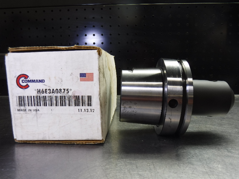 "Command HSK100A 7/8"" Endmill Holder 3.75"" Projection H6E3A0875 (LOC1993A)"