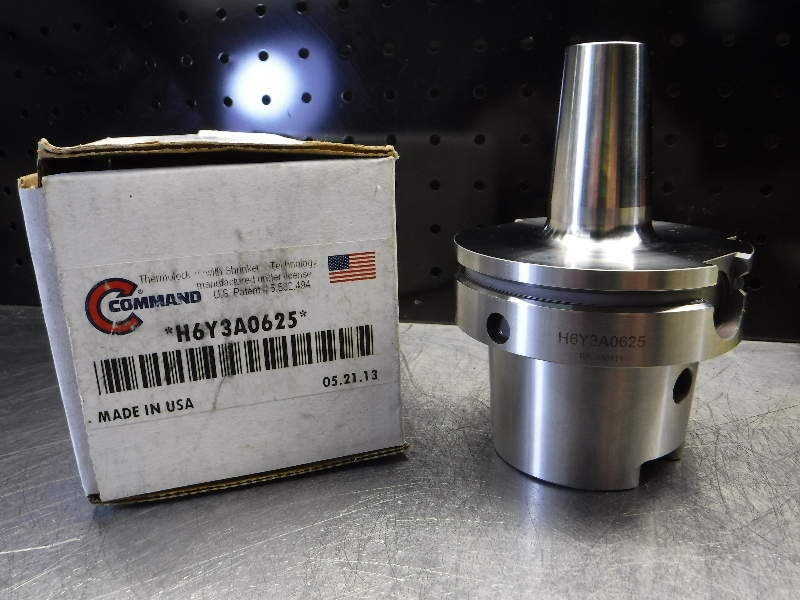 """Command HSK100 5/8"""" Shrink Fit Tool Holder 3.63"""" Projection H6Y3A0625 (LOC2081A)"""