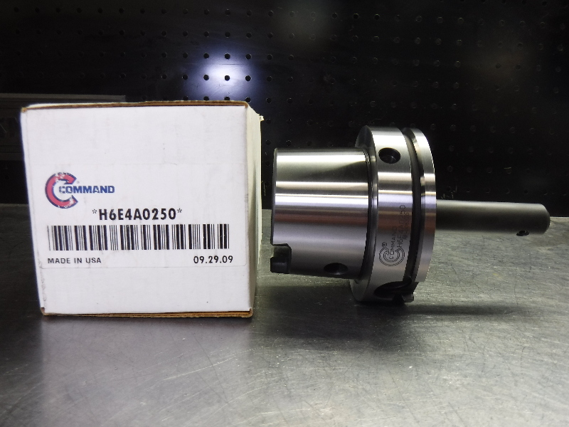 "Command HSK100A 1/4"" Endmill Holder 4.38"" Projection H6E4A0250 (LOC1995A)"