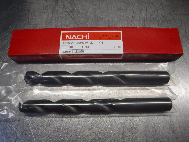 """Nachi 41/64"""" HSS Drill 2 Flute QTY2 L501 (LOC1583B)"""