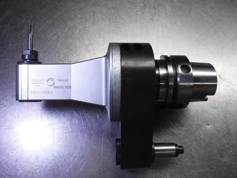 Alberti HSK63 ER11 Right Angle Head Milling Attachment T90-0.5C (LOC2062B)
