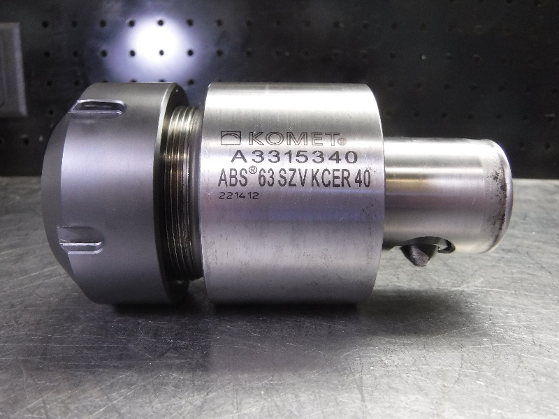 """Komet ABS63 ER40 Collet Chuck 3.25"""" Projection A3315340 (LOC2063A)"""