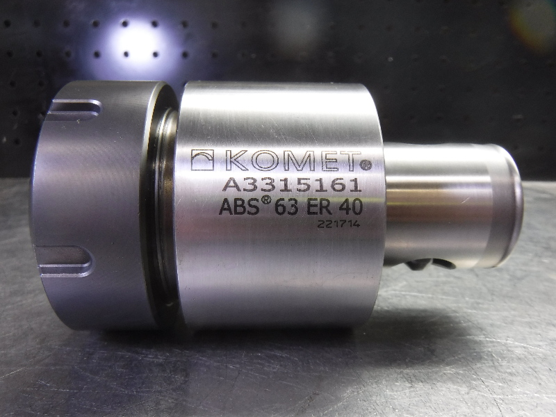 """Komet ABS63 ER40 Collet Chuck 3.25"""" Projection A3315161 (LOC2981A)"""