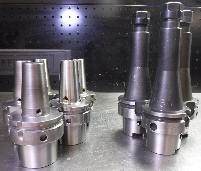 Lot of 8 HSK63A Tool Holders (10mm Shrink Fit & ER16 Collet Chuck) (LOC68A)