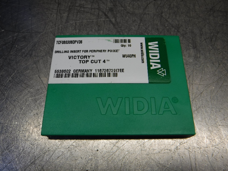 Widia Victory Top Cut 4 Carbide Inserts QTY10 TCF080308DPV36 WU40PH (LOC2848C)