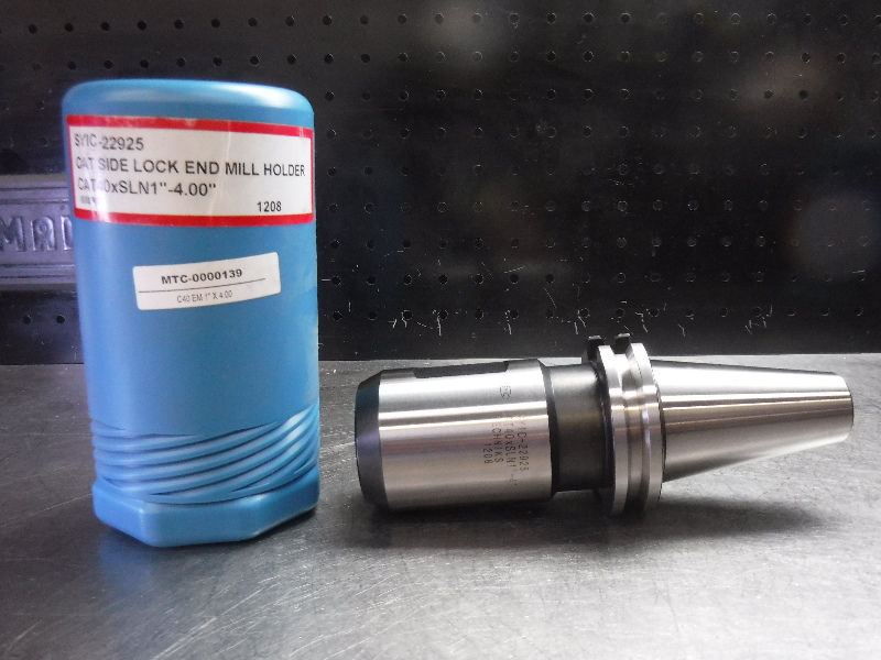 """Techniks CAT40 1"""" Endmill Holder 4"""" Projection SYIC-22925 (LOC1904A)"""