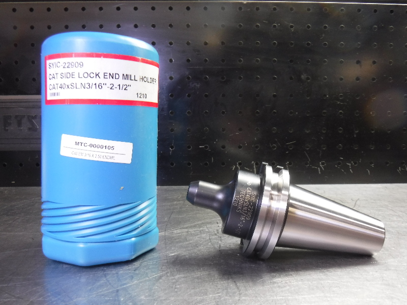 """Techniks CAT40 3/16"""" Endmill Holder 2.5"""" Projection SYIC-22909 (LOC1902A)"""