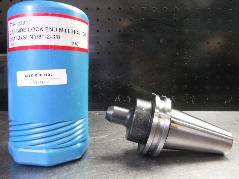 """Techniks CAT40 1/8"""" Endmill Holder 2-3/8"""" Projection SYIC-22907 (LOC1902A)"""
