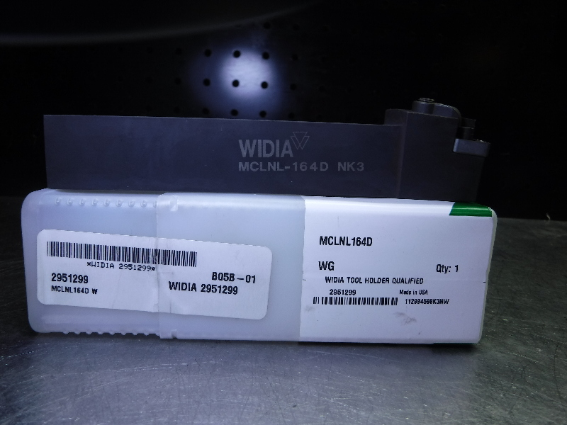 "Widia 1"" Indexable Lathe Tool Holder MCLNL164D (LOC2444)"