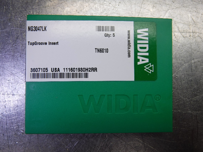 Widia Carbide Inserts QTY5 NG3047LK TN6010 (LOC2444)