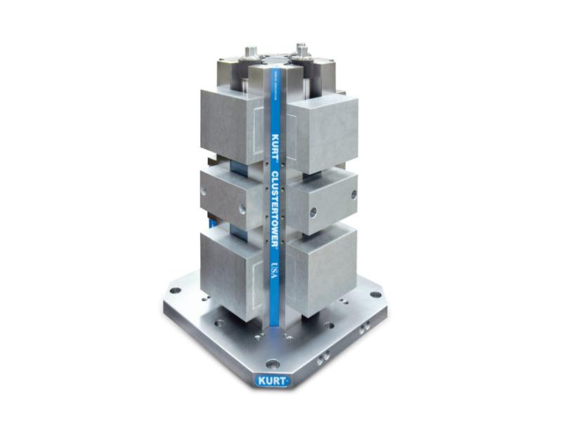 "Kurt Long Manual ClusterTower 500 mm Base w/ 6"" Aluminum Jaws CTHDLM645AL (STK)"