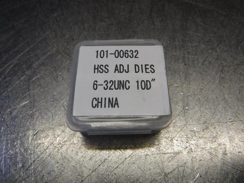 "HSS 6-32UNC 10D"" Round Adjustable Thread Dia 1"" OD 101-00632 (LOC998D)"