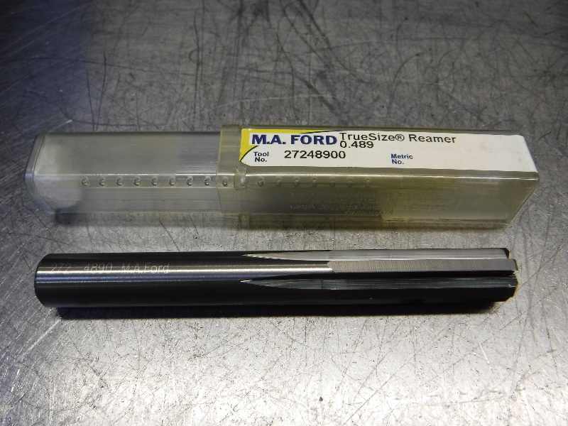 "M.A. Ford TrueSize 0.4890"" Carbide Reamer 0.4700"" Shank 27248900 (LOC1133A)"