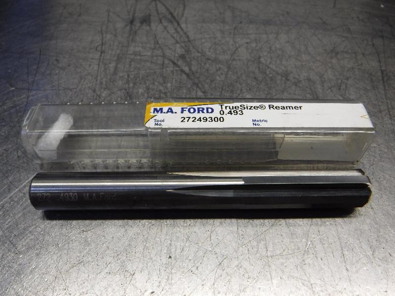 "M.A. Ford TrueSize 0.4930"" Carbide Reamer 0.4700"" Shank 27249300 (LOC1133A)"