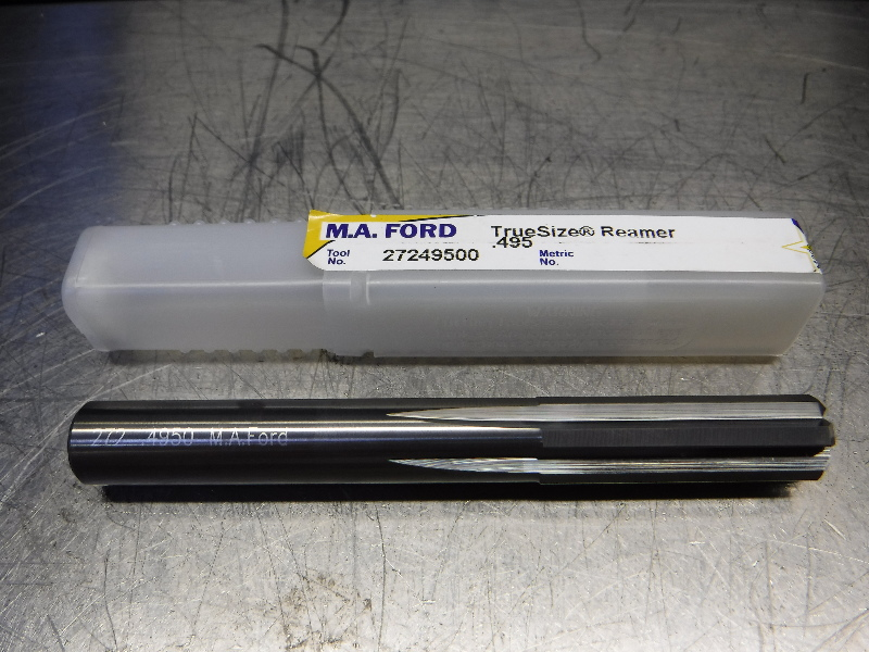 "M.A. Ford TrueSize 0.4950"" Carbide Reamer 0.4700"" Shank 27249500 (LOC2003A)"