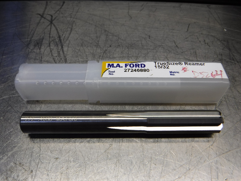 "M.A. Ford TrueSize 15/32"" Carbide Reamer 0.4400"" Shank 27246880 (LOC2003A)"