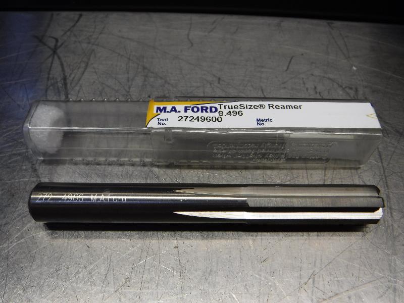 "M.A. Ford TrueSize 0.4960"" Carbide Reamer 0.4700"" Shank 27249600 (LOC2003A)"