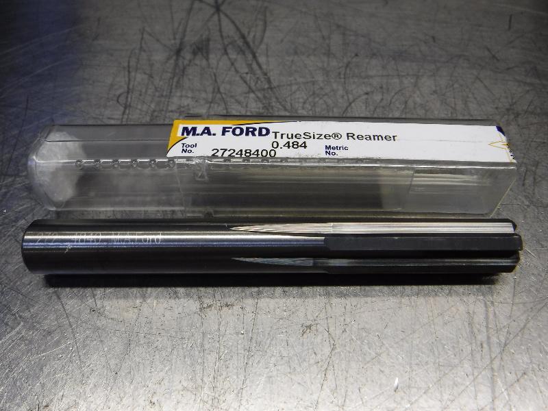 "M.A. Ford TrueSize 0.4840"" Carbide Reamer 0.4700"" Shank 27248400 (LOC2003A)"