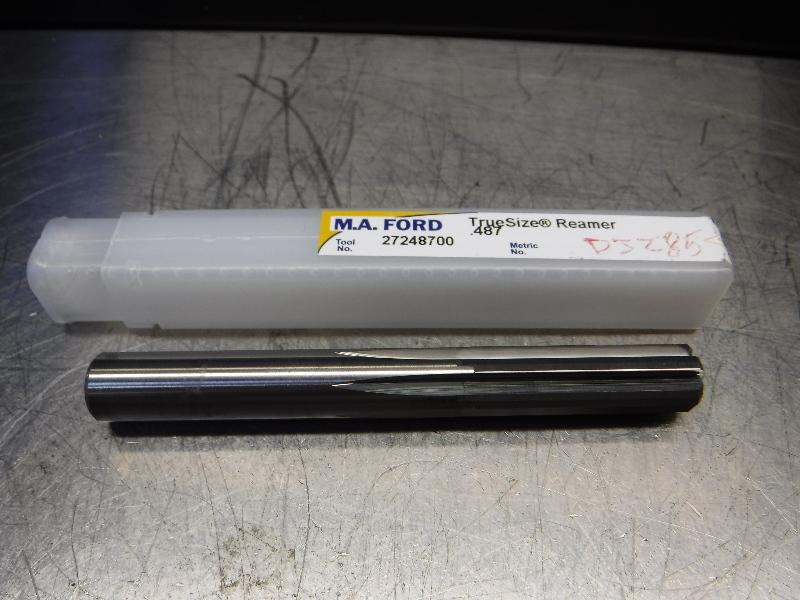 "M.A. Ford TrueSize 0.4870"" Carbide Reamer 0.4700"" Shank 27248700 (LOC1170A)"