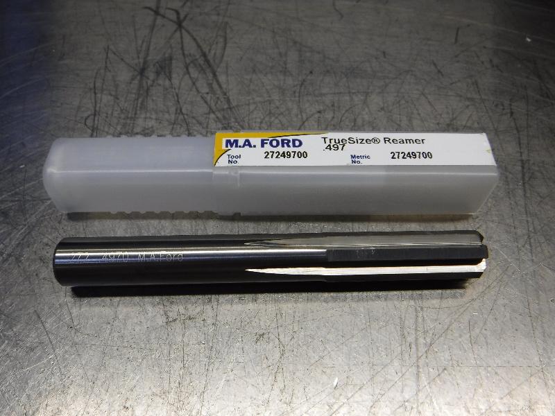 "M.A. Ford TrueSize 0.4970"" Carbide Reamer 0.4700"" Shank 27249700 (LOC1170A)"