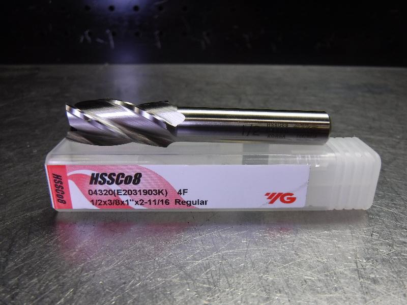 """YG-1 Tool Company 1/2"""" Cobalt Endmill 4 Flute 04320 (LOC2003B)"""