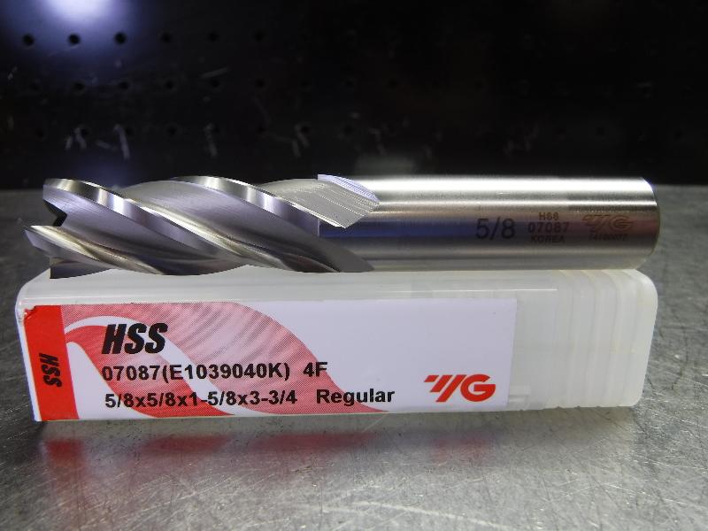 "YG-1 Tool Company 5/8"" HSS Endmill 4 Flute 07087 (LOC2003C)"