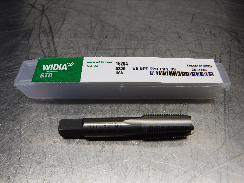 "Widia 1/8""-27 NPT H2 HSS Taper Pipe Tap 1/8NPT TPR PIPE SS 16204 (LOC1308C)"