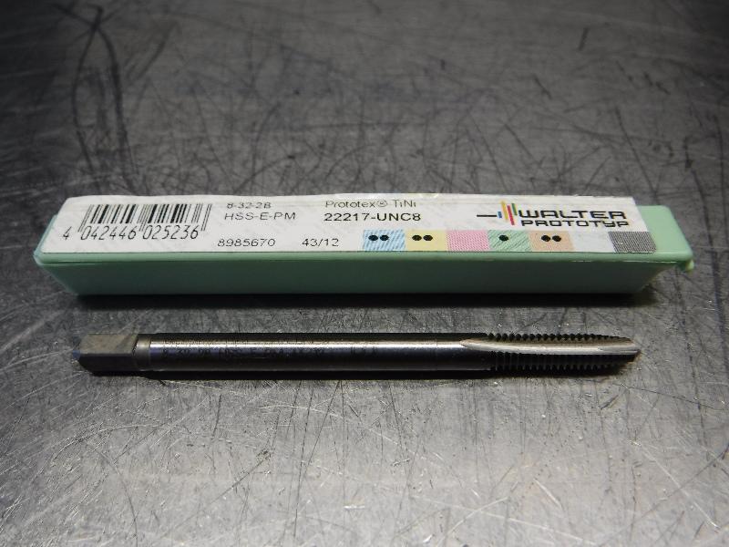 Walter #8-32 UNC HSS Spiral Point Plug Tap 4.50mm Shank 22217-UNC8 (LOC2728C)